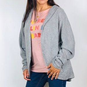 Tops - Bartlett Long Sleeve Hooded Cardigan Sweater